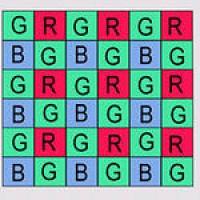 Байеровская схема расположения светофильтров матрицы.