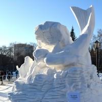 Фестиваль  снежной скульптуры в Новосибирске.  Январь 2016 г.