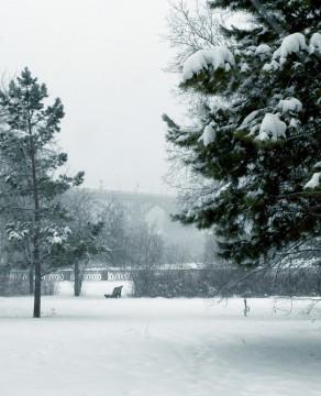 Зима в городе.