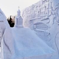 Фестиваль снежных скульптур в Новосибирске, январь 2013 г.