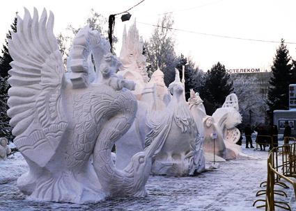 Sneg skulpturi