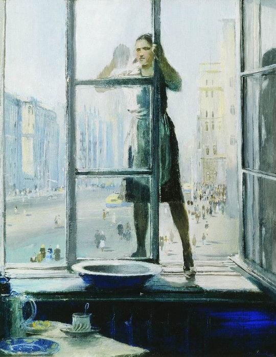 Юрий Пименов. Весеннее окно