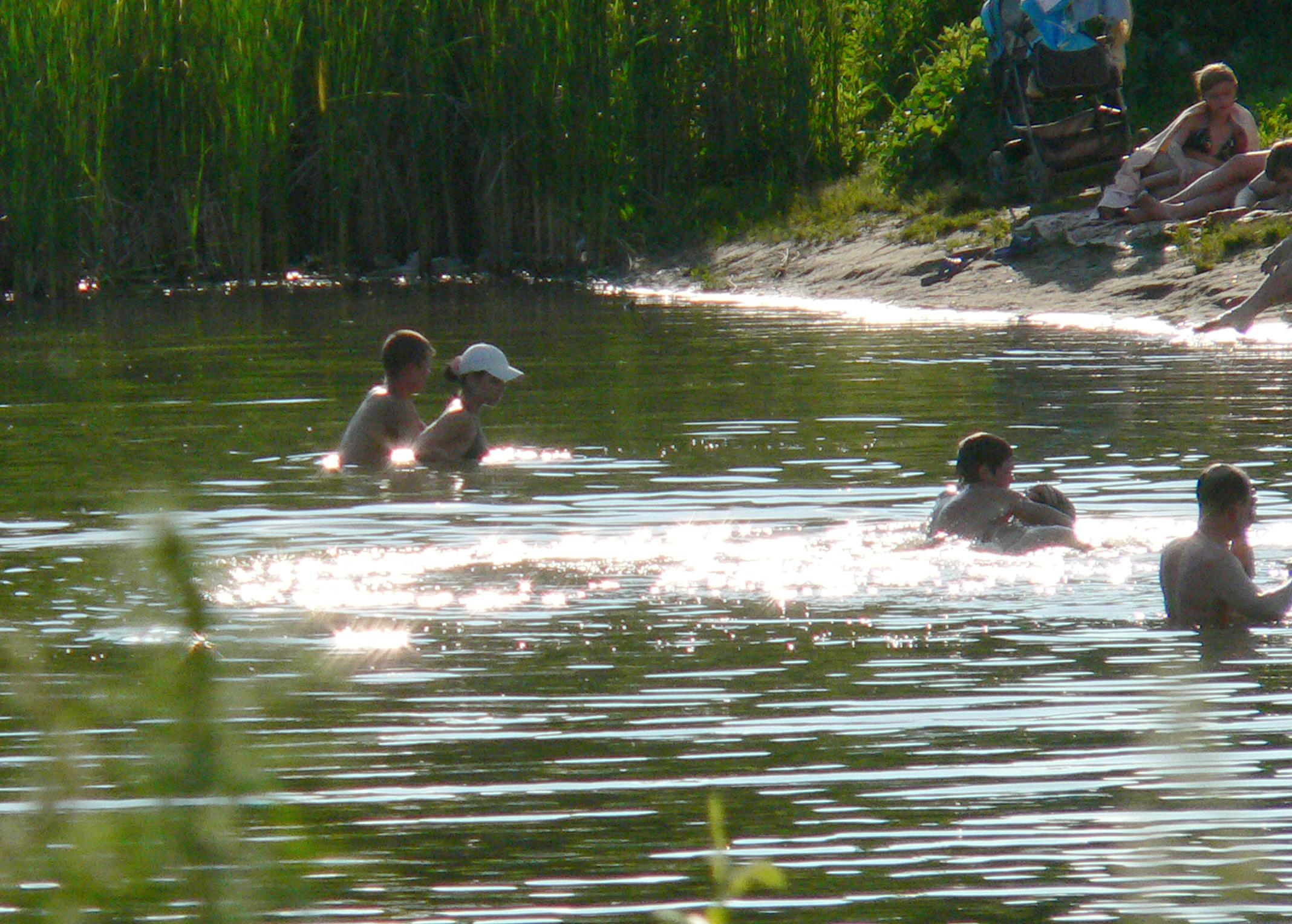 Солнечное купание.
