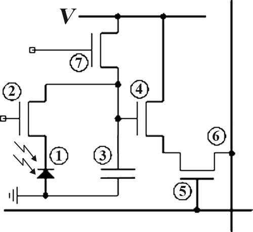 КМОП-матрица_схема