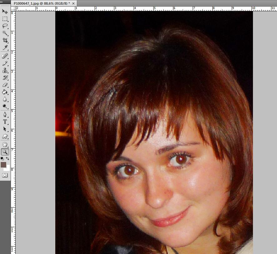 Портрет-девушки-эффект-красных-глаз