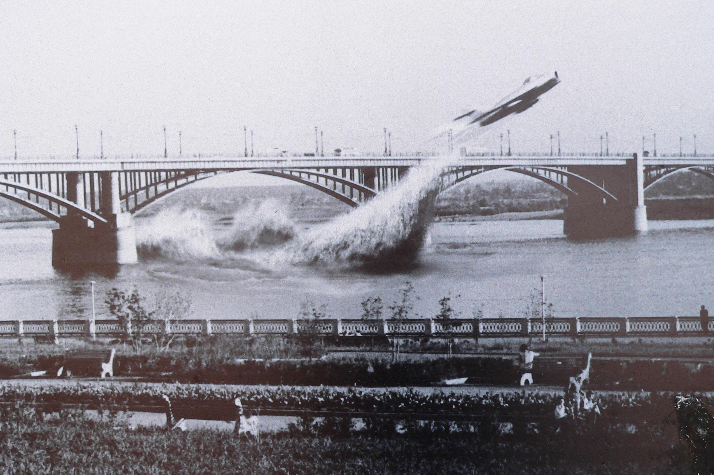 Фотография-пролета-Приваловым-на-самолете-МиГ17