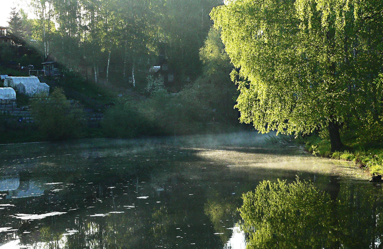 Съемка-в-туман-утро-на-озере