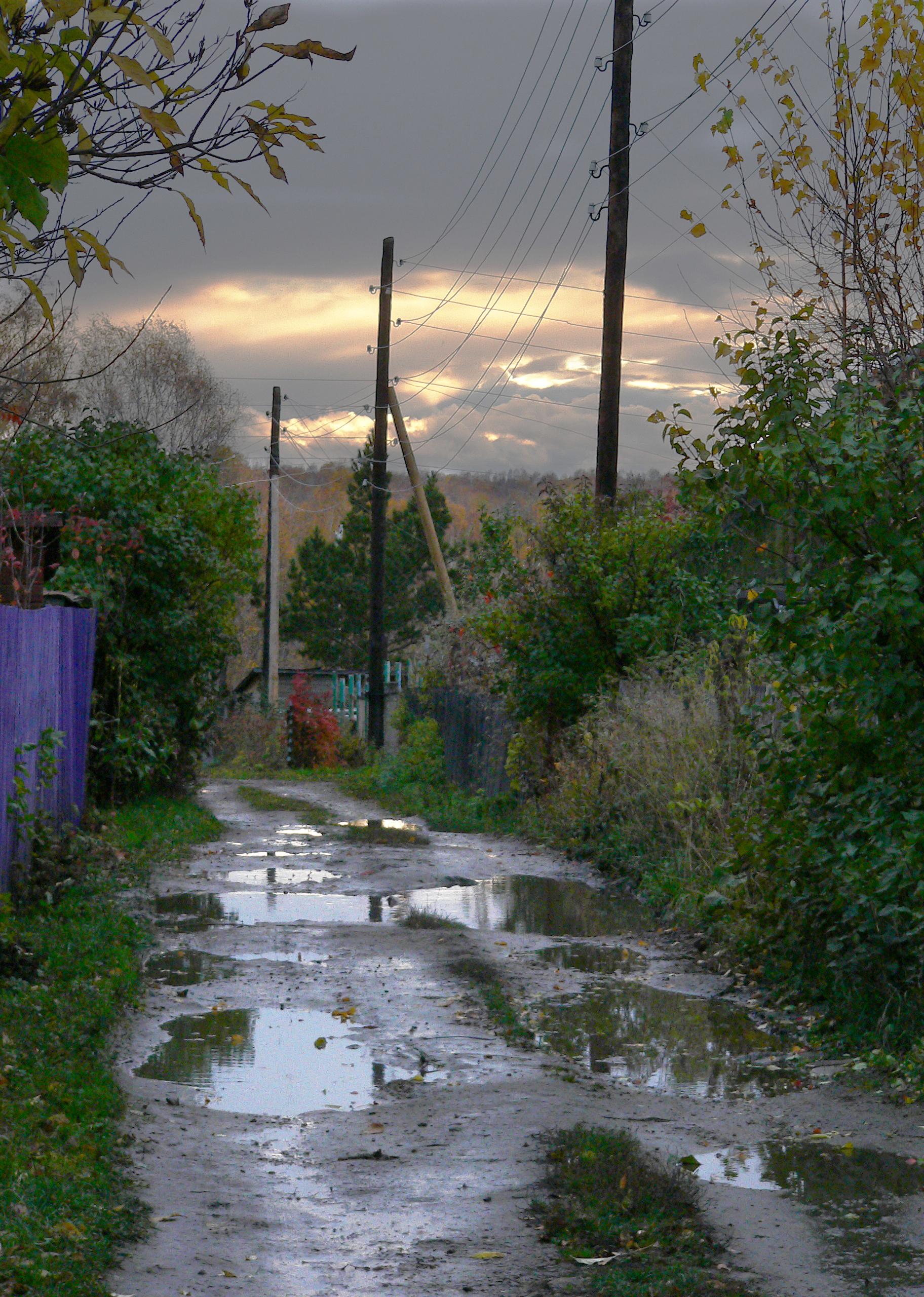 Съемка-после-дождя-закат-осень