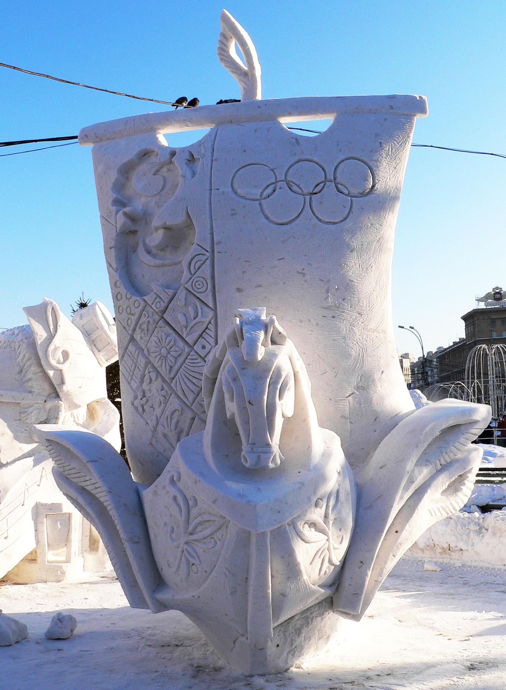 Фотография-снежных-скульптур-Новосибирск-2014-Добрый-путь