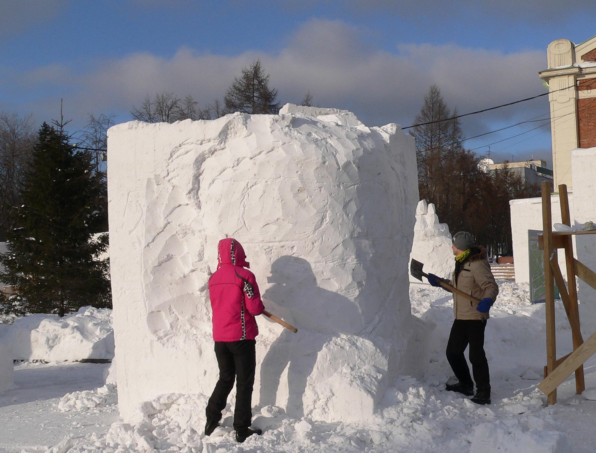 Фестиваль-снежных-скульптур-Новосибирск-2014-подготовка