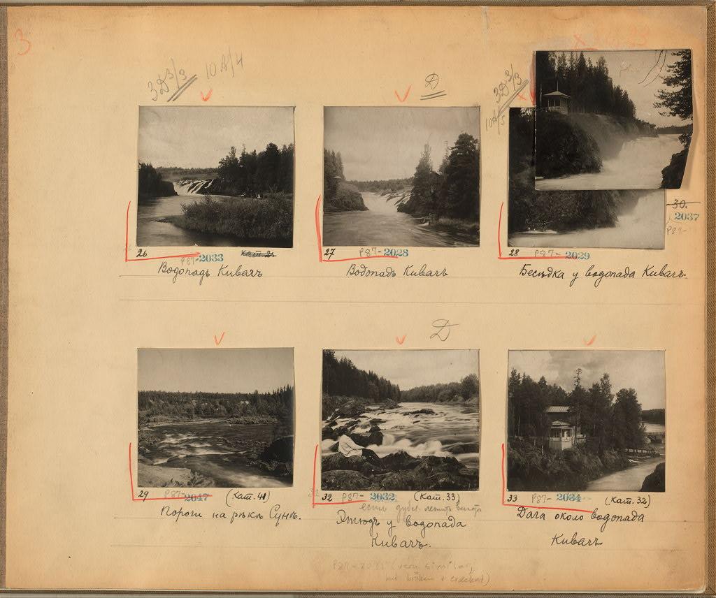 Лист из блокнота Прокудина-Горского, где он записывал сделанные снимки.