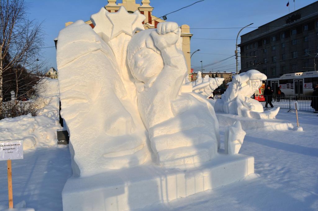 Снежная_скульптура_Долгожданная_встреча_Новосибирск_2020