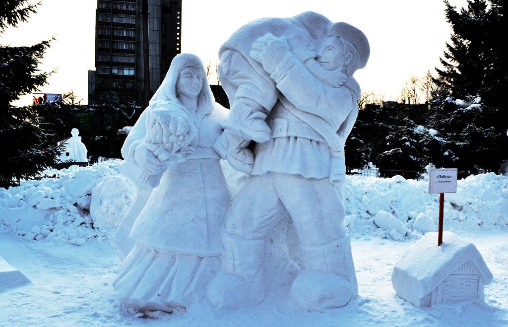 Снежная_скульптура_Победа_Новосибирск_2020
