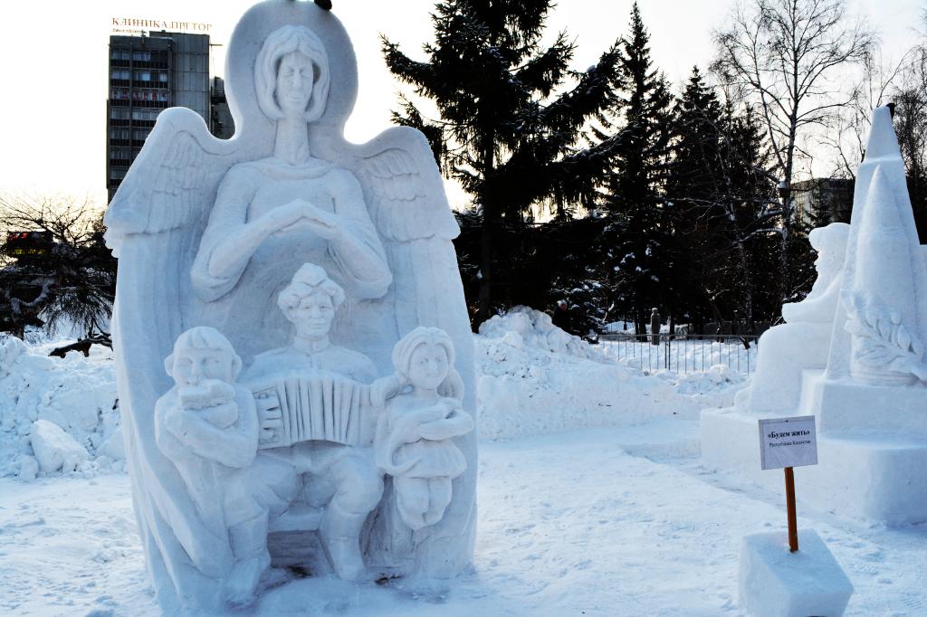 Снежная_скульптура_Будем_жить_Новосибирск_2020